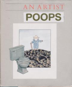 artist poops collage